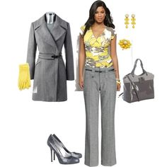 Yellow and Grey Outfit