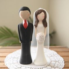 Custom Personalized and Handmade Polymer Clay Wedding Cake Topper  WCT003