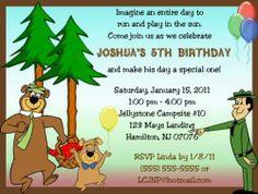 Yogi Bear Invitations Birthday Party Supplies | eBay
