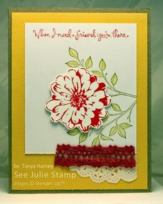 See Julie Stamp: Julie Wadlinger is an Independent Demonstrator for Stampin' Up! She creates hand-made and digital projects. See Julie, Choose Happiness, Stampin Up, Card Ideas, Group, Happy, Flowers, Projects, Cards