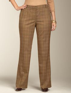 Talbots - Curvy Fit Glen Plaid Pant | Pants | Woman
