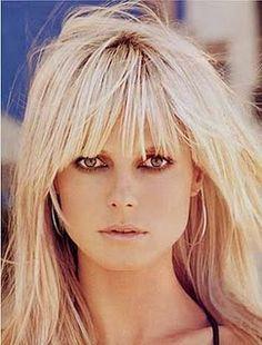 The best platinum blonde bangs EVER on Heidi Klum circa 2003