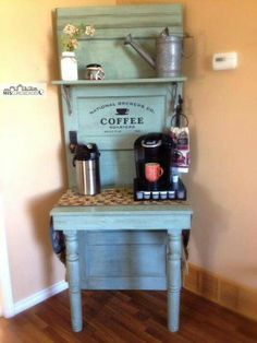 Turn an Old Door into a Coffee Bar.these are the BEST Upcycled Ideas! - Turn an Old Door into a Coffee Bar…these are the BEST Upcycled Ideas! Turn an Old Door into a Coffee Bar…these are the BEST Upcycled Ideas! Old Furniture, Repurposed Furniture, Painted Furniture, Furniture Makeover, Furniture Ideas, Repurposed Doors, Furniture Websites, Furniture Dolly, Furniture Design