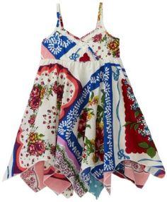 Mimi & Maggie Baby-girls Infant Vintage Handkerchief dress -- I need a sewing machine! Hippie Dresses, Girls Dresses, Summer Dresses, Hankerchief Dress, Paisley, Vintage Handkerchiefs, My Little Girl, Couture, Textiles