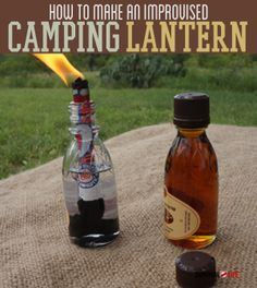 How To Make An Improvised Camping Lantern  | Survival Prepping Ideas, Survival Gear, Skills & Emergency Preparedness Tips - Survival Life Blog: survivallife.com #survivallife