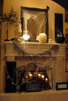 Below are the Make Your Own Halloween Decorations. This post about Make Your Own Halloween Decorations was posted under the Hallowen Decor category by our team Halloween Fireplace, Soirée Halloween, Adornos Halloween, Halloween Dinner, Holidays Halloween, Halloween Decorations, Victorian Halloween, Nuit D'halloween, Mantel Ideas