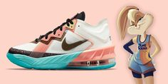 Nike lança tênis inspirado na Lola Bunny | We Fashion Trends Nike Lebron, Running Shoes, Sneakers, Fashion, Wide Fit Women's Shoes, Loafers & Slip Ons, Tips, Tennis, Runing Shoes