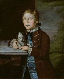Boy of Hallett Family with Dog 1766/76 Artist unknown American