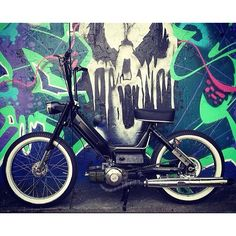check out @evancremers custom Puch maxi bobber style! // @mopedsofinsta #mopedsofinsta by mopedsofinsta