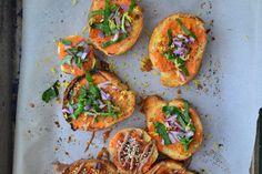 Sweet Potato & Fresh Basil Bruschetta {Gluten-Free, Dairy-Free, Soy-Free, Sugar-Free, Vegan}