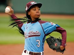 Mo'ne Davis (first girl to earn a win and to pitch a shutout in Little League World Series history, the 18th girl overall to play, the 6th to get a hit, the 1st African-American girl to play in the Little League World Series, and the 1st Little League baseball player to appear on the cover of Sports Illustrated as a Little League player) born in Philadelphia, Pennsylvania, USA on June 24, 2001