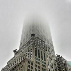 chrysler building in fog - Google Search