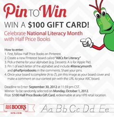 Celebrate #literacymonth with @halfpricebooks and enter to win a gift card! Learn more: http://hpb.com/abc