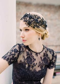 Modern, Contemporary and Avant Garde Occasionwear Headpieces by Artisan Designer Hermione Harbutt Headband Hairstyles, Wedding Hairstyles, Bridal Headpieces, Bridal Hair, Red Carpet Hair, Floral Headpiece, Leather Flowers, Crystal Flower, Crystal Rhinestone