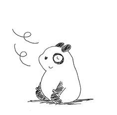 【一日一大熊猫】2016.7.22 やっと仕事場のエアコンが直ったよ。 文明の力に今感謝しております。 さてと涼しいとくつろぎたくなるね。 #パンダ