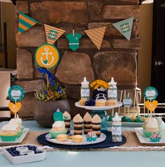 Nautical Themed Baby Shower Dessert Table - Project Nursery