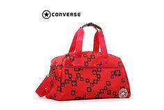 New Mens Converse Black Diagonal Zip Polyester Backpack Backpacks