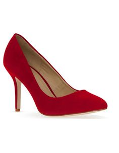 Miss Shop Trisha2 Red Mid Heel Pump (Yes, I still have a fetish for red high heels)