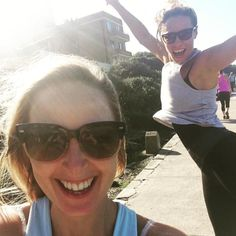 Jumping for joy!! Bondi to Bronte making the most of the sunshine! #joy #jumping #Bondi #Bronte #bonditobronte #bfree #bfreebwell by cara.bfree http://ift.tt/1KBxVYg