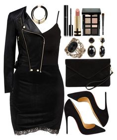 A fashion look from March 2017 featuring Glamorous tops, Forever New jackets and Christian Louboutin pumps. Browse and shop related looks. Edgy Outfits, Teen Fashion Outfits, Night Outfits, Cute Casual Outfits, Fashion Mode, Look Fashion, Womens Fashion, Fashion Bags, Mode Club
