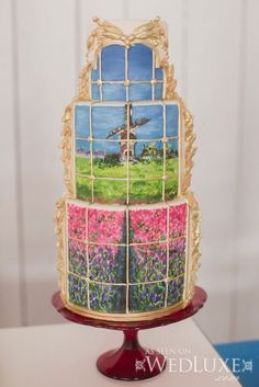 Photograph Frame Cake! The scenery is beautiful!
