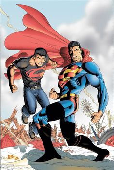 Superboy & Superman by Ian Churchill