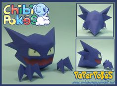 Easy Pokemon Papercraft   PaperPokés - Pokémon Papercrafts: HAUNTER CHIBI