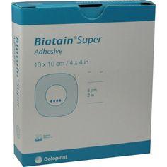 BIATAIN Super selbst-haftend Superabs.10x10 cm:   Packungsinhalt: 10 St Verband PZN: 01402947 Hersteller: Coloplast GmbH Preis: 95,16 EUR…
