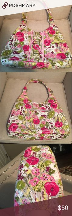 NWOT! Vera Bradley purse  Make Me Blush pattern Vera Bradley Make Me Blush pattern hobo purse. NWOT! Got as a gift and never used. It's beautiful, but it's just not my style, so I decided to let a Vera lover have the opportunity to love it. It is a rather large hobo purse. Magnetic closure. Bags Hobos