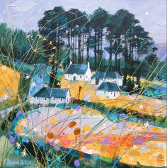 Deborah Phillips - UK Abstract Landscape, Landscape Paintings, Abstract Paintings, Glasgow Art Gallery, Scotland Uk, Edinburgh Scotland, Graphic Illustration, Illustrations, Whimsical Art