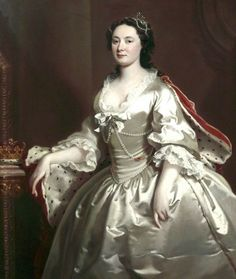 1746 Anne (d.1759), Duchess of Chandos by Joseph Highmore (Walker Art Gallery - Liverpool, Merseyside UK) | Grand Ladies | gogm