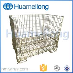 Folding stacking storage galvanized folding cage