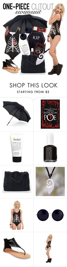 """Sand, Sun, and Shadows~"" by kawaiicreeper ❤ liked on Polyvore featuring philosophy, Essie, James Perse, NOVICA, Linda Farrow, Wet Seal, Chapstick, women's clothing, women and female"