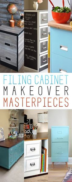 Filing Cabinet Makeover Masterpieces | Pinterest Goodies                                                                                                                                                     More
