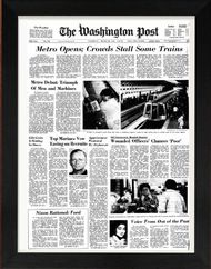 40th Anniversary Gift idea - Front page of Washignton Post from 1976 framed