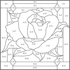 Stained Glass Patterns Free, Stained Glass Quilt, Stained Glass Flowers, Stained Glass Designs, Stained Glass Panels, Stained Glass Projects, Leaded Glass, Mosaic Patterns, Flower Quilts