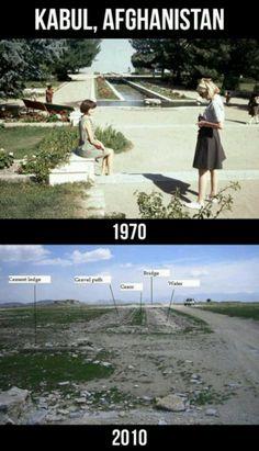 Kabul, Afghanistan | Then & Now . . . the devastation of war