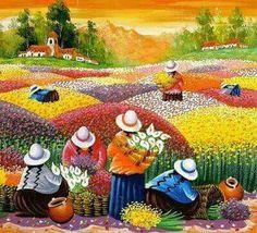 Pintor peruano Walter Anicama Zamora