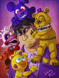 Purple guy in FNAF world by LadyFiszi on DeviantArt