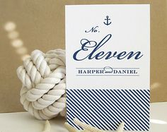 Nautical wedding table cards
