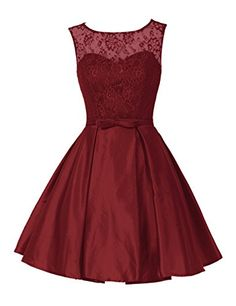 Exquisite lace sleeveless short dress. Floral lace top, scoop neckline with satin lining, soft and skin-touch, great wearing experience. Modern and also simple design, enclosed is a slim belt with bow tie. Appropriate for a homecoming, a cocktail evening party, or as bridesmaid dress.
