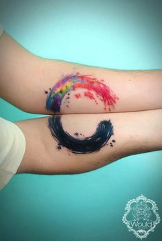 14 Matching Lovers' Tattoos That Are Actually Pretty Cute