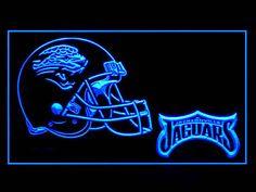 Jacksonville Jaguars Helmet Script Shop Neon Light Sign