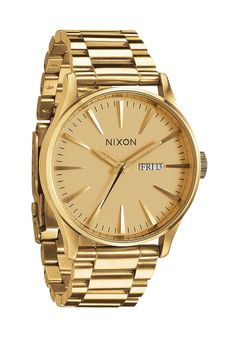 #planetsports NIXON Sentry SS all gold