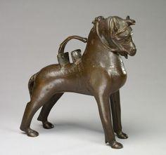 Aquamanile: Saddled Horse ca. 1300 | Cleveland Museum of Art.  1969.26