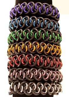 You Choose the Colours - Stretchy Dragonscale #Chainmaille Bracelet