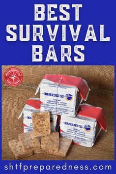Survival situations are fluid and that's not conducive to a hot meal. Power up with this guide to the best survival bars! Emergency Rations, Emergency Food Supply, Emergency Preparedness, Filling Snacks, Quick Snacks, Best Survival Food, Food Rations, Long Term Food Storage, 200 Calories