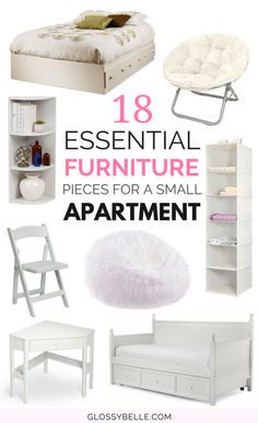 If you live in a very small space such as a college dorm or a condo, a lot of times you're just not going to have enough space for all of the furniture pieces that you want. Here are 18 compact furniture ideas that will help maximize your space in a small Small Apartment Furniture, Compact Furniture, Small Apartment Bedrooms, Small Apartment Decorating, Furniture For Small Spaces, Cheap Furniture, Apartment Living, Living Room Furniture, Furniture Ideas