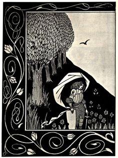 A Devil Woman's Likeness. Art Nouveau: Aubrey Beardsley.