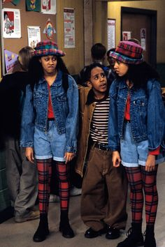 tv shows throwback Sister Sister Tia Mowry tia and tamera tamera mowry fashion Marques Houston sitcoms tia and tamera mowry tv shows tiaandtameramowry-two 90s Party Outfit, 90s Outfit, Party Outfits, Denim Outfit, Slimming World, Scrunchies, Baby Girls, Tia And Tamera Mowry, Throwback Outfits